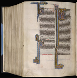 Historiated Initial With Luke And Theophilus, In 'The Bible Of Robert De Bello'